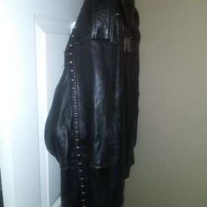 Black leather Pelle Pelle coat